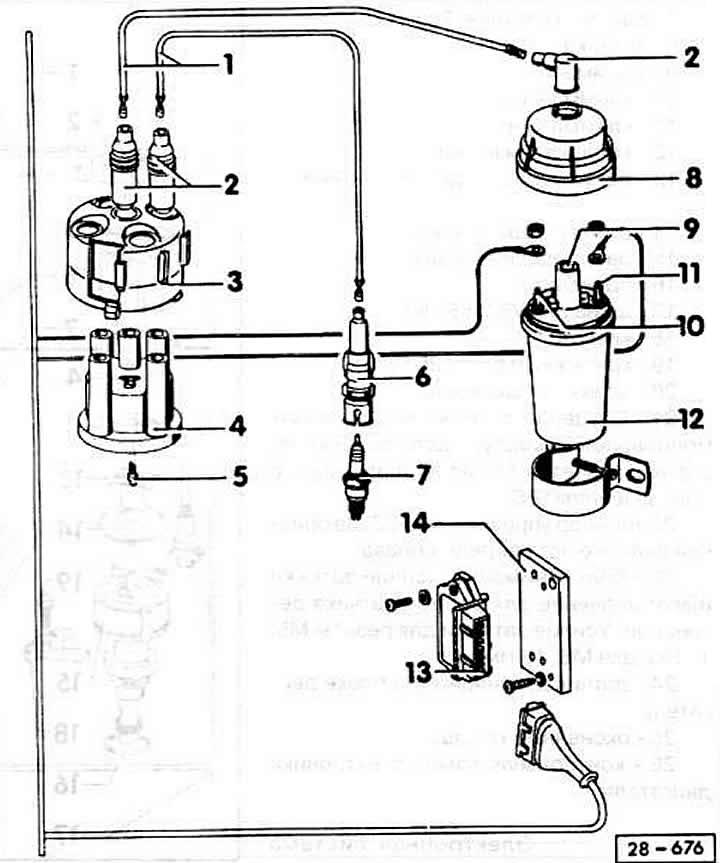 Система зажигания ауди 100 схема
